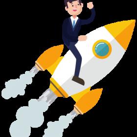 startup-businessman-rocket